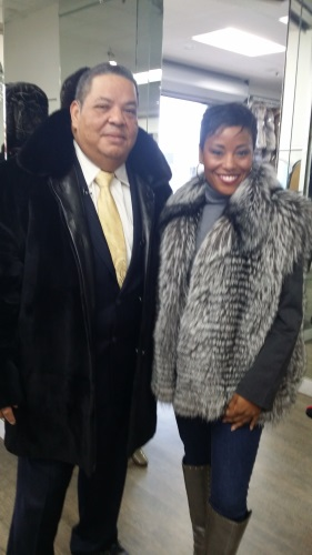 Lathrup Village Mayor ProTem Kelly Garrett Shopping at Bricker Tunis Furs