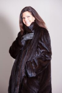 Plus Size / Full Length Directional Style Ranch Mink Coat