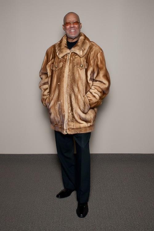 chinchilla faux fur men's hooded parka
